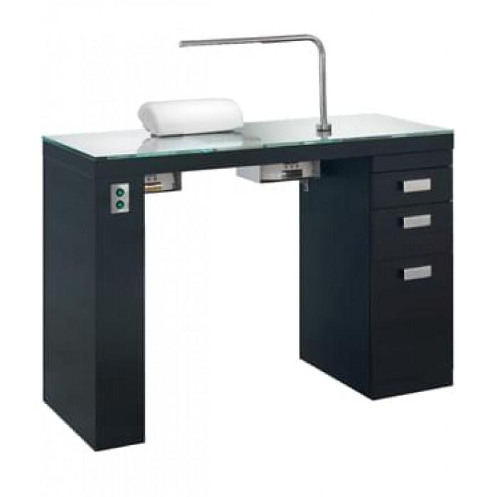 Маникюрный стол Smart Nails Black с вытяжкой С